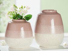 Gilde Keramik Kugelvase Palermo Vase altrosa glasiert 16 cm hoch NEU!
