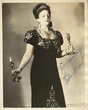 ZINKA MILANOV, Croatian Soprano Original HANDSIGNED Photo Portrait 1954