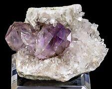 "Amethyst & Quartz ""Clam"" Mineral Specimen from Jacksons Crossroads, Georgia"