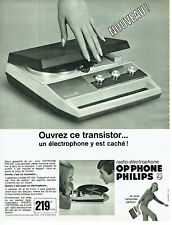 Publicité Advertising 018  1967   Philips radio-éléctrophone OP'phone transistor