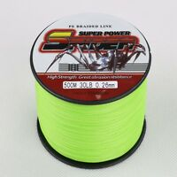 100M-1000M 6-300LB Fluorescent Yellow/Green 100%PE Dyneema Braided Fishing Line