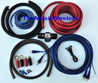 4 Gauge Car Power Amp INSTALL KIT w/ RCA, Power, Ground, Speaker Wire, Fuse, etc