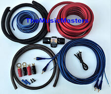 4 Gauge Car Power Amp INSTALL KIT w/ RCA, Power, Ground, Speaker Wire, Fuse, etc