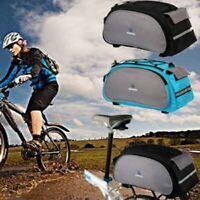 Bicycle Seat Rear Bag Waterproof Bike Pannier Rack Pack Shoulder Cycling Carrier