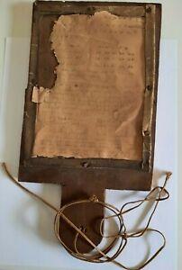 Antique primitive elementary school hornbook