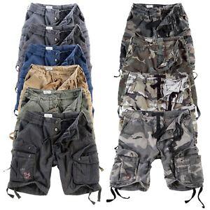 Surplus™ Raw Vintage Airborne Shorts Bermuda Rider Cargo Walk Shorts