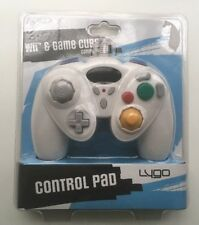 Nintendo Wii/Pad de control de Gamecube Blanco Nuevo Sellado Con Cable 3rd Fiesta