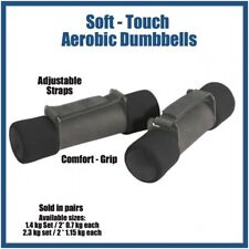 1.4 kg Pair Soft Touch Aerobic Dumbbell Set w/ Adjustable Strap / 2 x 0.7kg each