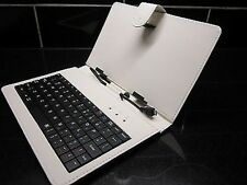 Luxury Graphite Grey/Silver Micro B USB Keyboard Case/Stand for DISGO Busbi 7""