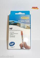 Anello dell' alcole SINGLE NF alcol breathalyser TESTER Twin Pack Francia Diritto giuridica