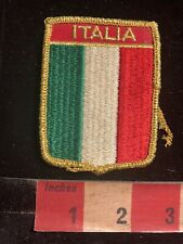 Vintage Gold Letter Version Italy Flag Themed Badge Patch 97C8