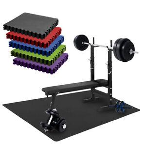 Schutzmatte Puzzlematte 5 Farben Bodenschutz Matte Fitness Training - 16-teilig