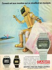 PUBLICITE ADVERTISING 124  1986   CASIO   les montres CHRONO REVEIL MUSICALES