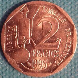 PIÈCE MONNAIE 2 FRANCS NICKEL 1995 LOUIS PASTEUR Ref : 00025
