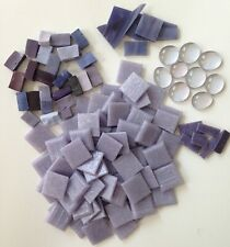 Mosaic Arts & Crafts Supplies : 1 lb Assorted Lavender Glass, Smalti, Marbles