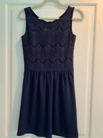 Lilly Pulitzer RHEA Navy Blue Lace DRESS Cocktail Wedding Size S Small
