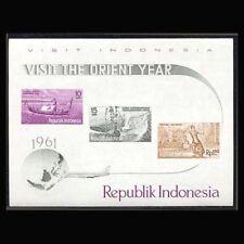 Indonesia, Sc #0507-16, Four S/S, MNH, 1961, S/S, Ships, Tourism, Horses, SH314