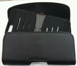 FOR EXTRA LARGE CELL PHONE LEATHER BELT CLIP BELT HOLSTER FIT HARD CASE ON PHONE