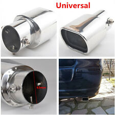 Universal Straight SS304 Auto SUV Exhaust Tails Rear Tail Silencer Tip Pipe 63mm
