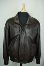 Remy Brown Double Collar Leather Thermolite Active Insulation Bomber Jacket 42