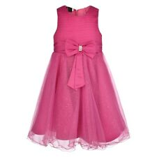 Girls Big Bow Glitter Dress For Wedding Bridesmaids Flowergirl Party 0m-13yr