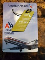 American Airlines MD-80 / Super 80 Key Fab / Tag Genuine Skin Tail # N582AA