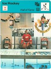 HOCKEY HALL OF FAME 1979 Sportscaster card #70-06A - DETROIT RED WINGS DISPLAY