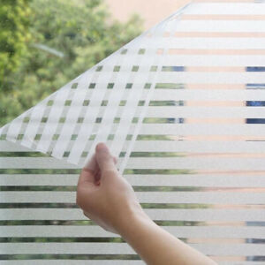 Transparent Matte Stripes Waterproof Frosted Bathroom Window Sticker Glass Film