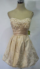 MASQUERADE Gold Homecoming Prom Party Dress 11-$100 NWT