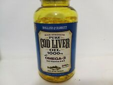 Holland & Barrett High Strength Cod Liver Oil 1000mg - 240 Capsules