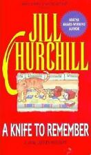 A Knife to Remember (Jane Jeffry Mysteries, No. 5) Churchill, Jill Mass Market
