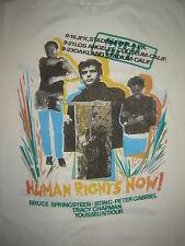 Vintage Concert T-Shirt AMNESTY 87 BRUCE SPRINGSTEEN STING GABREIL NEVER WORN
