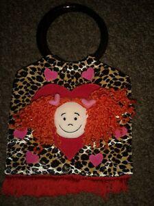 JellyCat Rag Doll Circle Handle Leopard Print Bag, Soft Toy, VGUC, J276