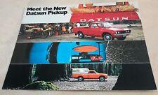 1972 Datsun Pickup Truck ORIGINAL LARGE DEALER SALES FACTORY Postcard NOS Nissan
