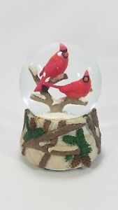 """Kcare Red Cardinals Christmas Musical Snow Globe """"We Wish You a Merry Xmas"""" 5.5"""""""