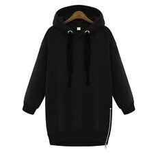 Women Long Sleeve Hoodie Casual Sweatshirt Zipper Hooded Coat Loose Pullover Top