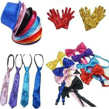 Men Woman Hat Bow Tie Gloves Birthday Party Cap Dance Performance Fancy Dress