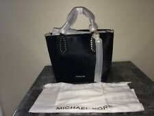 AUTHENTIC MICHAEL KORS BROOKLYN MEDIUM TOTE BLACK CALF HAIR NEW WT & PACKAGING