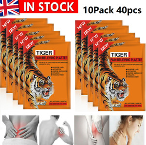 10 X TIGER Pain Relieving Patches For Relief of Aches Muscles Arthritis Strains