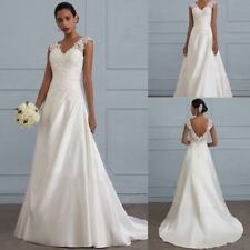 2018 Sexy Mermaid Wedding Dresses V Neck Chapel Train Lace Backless Bridal Gown