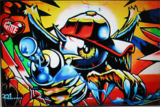 large  graffiti wall painting street art commission 200cm
