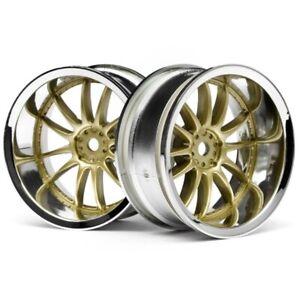 HPI 3299 Work XSA 02C Wheel 26mm Chrome/Gold 9mm Offset (2) Nitro 3 Drift / Evo