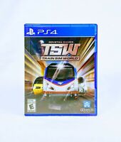 TRAIN SIM WORLD (2018) PS4 [GAME & CASE] Good & Tested *FREE SHIPPING*