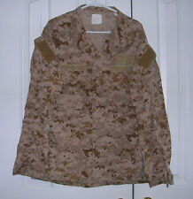 US Navy Working Uniform NWU Type II Desert AOR1 Seal DEVGRU Large Regular Shirt