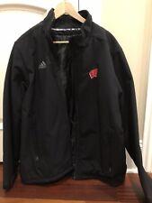 Wisconsin Badgers Uw Adidas Sideline Full-Zip Black Red Winter Jacket Large