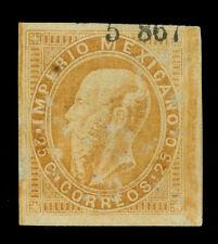 Mexico 1867 Maximilian 25c org brown - Cordova - 5 867 district Sc# 33 mint Mh