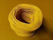 Simple Vintage 2-Wire Round Cloth Covered Wire Lamp Cord Gold Golden Yellow