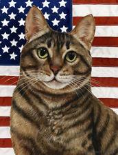 New listing Patriotic (2) Garden Flag - Brown Tabby Cat 329541