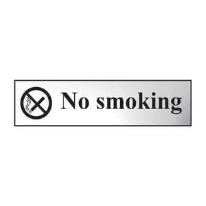 High Quality No Smoking Signs Self Adhesive 5 Finishes
