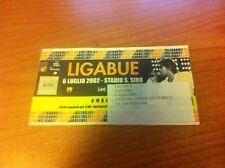 LUCIANO LIGABUE 6 LUGLIO 2002 BIGLIETTO STADIO SAN SIRO MILANO TOUR TICKET